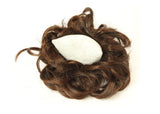 Ash Brown Donut Elastic Chignons Ponytail Hairpiece Extension