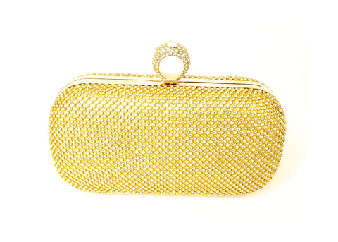 Golden Fashion Studded Purse