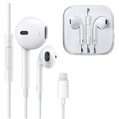 Apple iPhone 7, iPhone 7 Plus Earpod / Earbud / Earphones / Headphones with Lightning Connector White