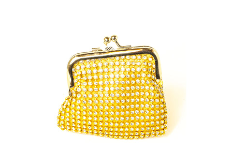 Golden Fashion Studded Coin Bag