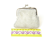 Silver Fashion Studded Coin Bag