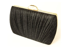 Black Rectangle Fabric Purse