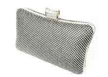 Black Rectangle Fashion Rhinestone Studded Purse
