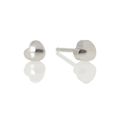 Ear Piercing solid heart silver