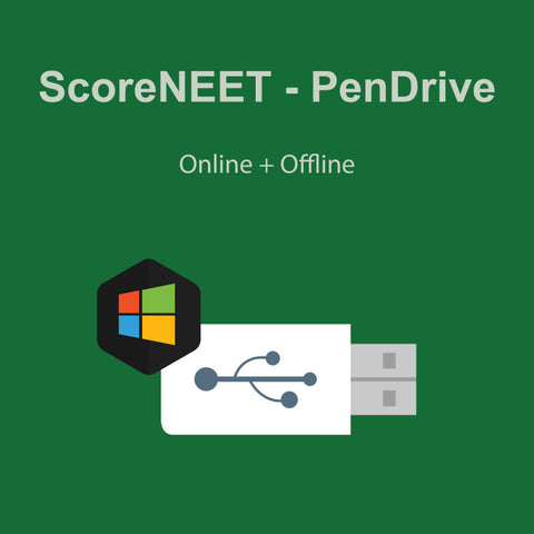 ScoreNEET Pendrive (Online + Offline Access) (For Windows based devices)
