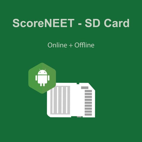 ScoreNEET SD Card (Online + Offline Access) (For Android devices)