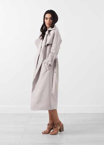 Orietta Coat in Tan