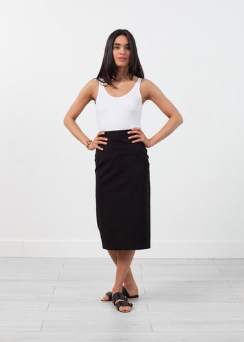 Long Pencil Skirt in Black
