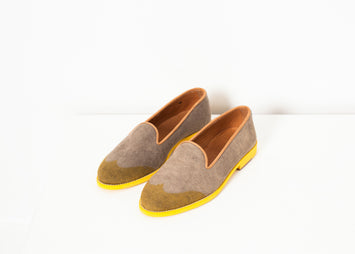 Wingtip Loafer in Yellow