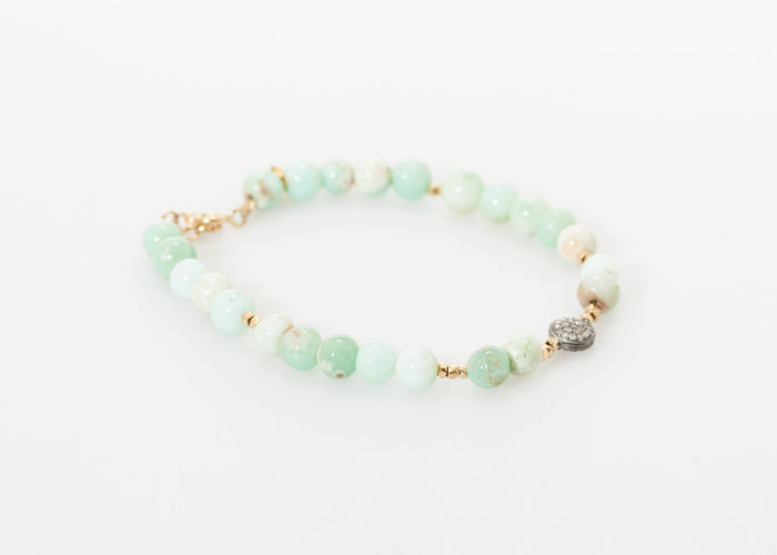 Leopold Bracelet in Green Chrysoprase