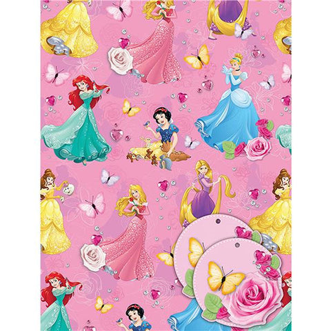 Disney Princess Wrapping Paper Tags