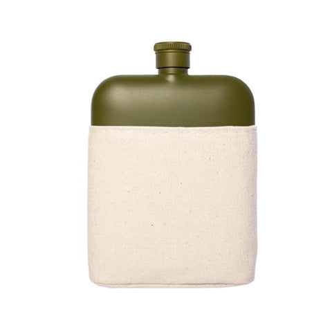 ARMY 6OZ FLASK WITH CANVAS CARRIER