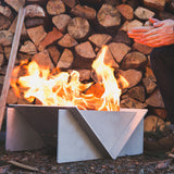 Stainless steel portable fire pit