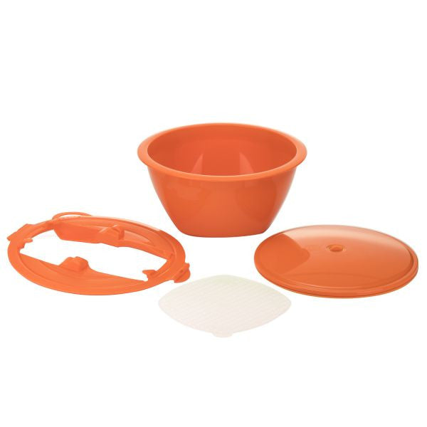 Borner Multimaker - full-color: Bowl with keep-fresh lid, sieve and Multiplate