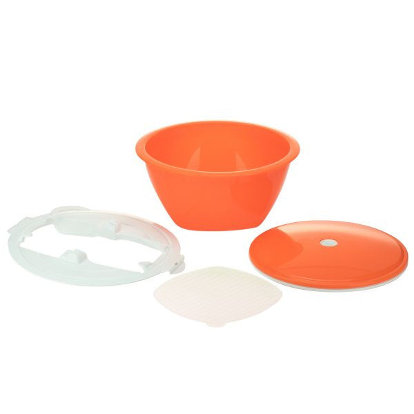 Borner Multimaker - tinted: Bowl with keep-fresh lid, sieve and Multiplate