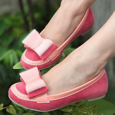 New Fashion New Women's Beautiful Hard Bottom Bowknot Shoes Flats 3 Colors