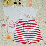 New Fashion Baby Infant Summer Cartoon Pattern Suit T-Shirt + Pants/Toddler 3Sizes