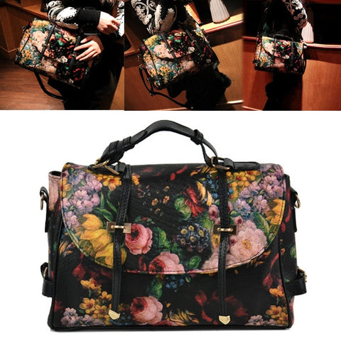 New Fashion Korea Fashion Women's Girl Painting Pattern Single Shoulder Bag Handbag
