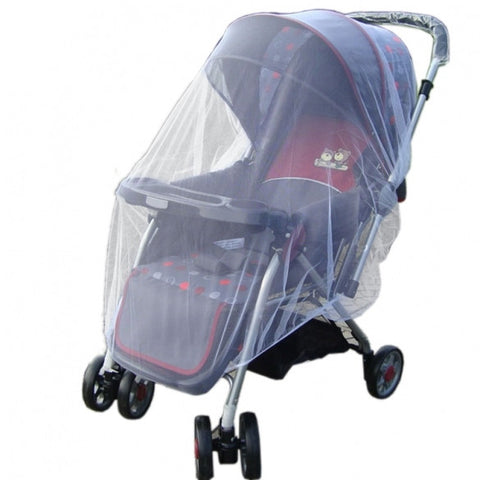 New Fashion Infants Baby Stroller Pushchair Mosquito Insect Net Safe Mesh White Buggy Cover