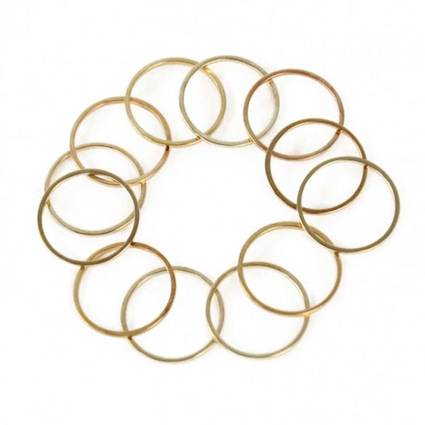 New Fashion 12Pcs/Set Rings Urban Gold Stack Plain Cute Above Knuckle Ring Band Midi Ring