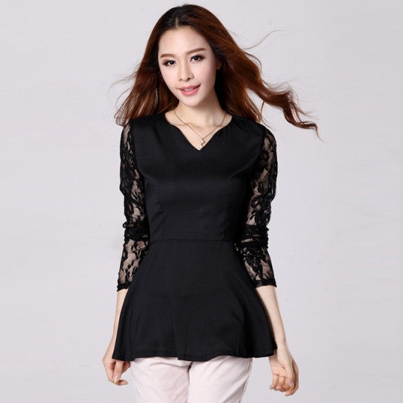 5d043a0a067 New Fashion Women s Party Shirts Peplum V Neck Formal Tops Blouses