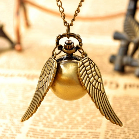 New Fashion Vintage Bronze Punk Steampunk Quartz Pocket Watch Pendant Chain