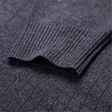 Mens Brief Style Solid Color Pullover Fall Winter Warm Knitted V-neck Casual Sweater