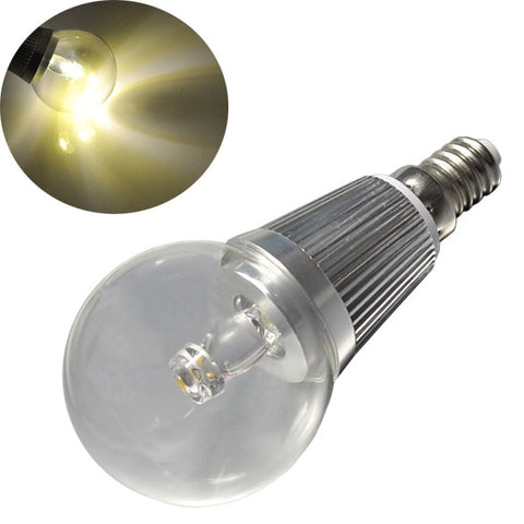 New E14 LED Globe Bulb Light With Screw Cap Warm White Lamp Crystal Chandelier High Power AC 85~265V
