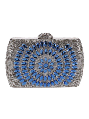 Geometric Diamante Evening Clutch Bag