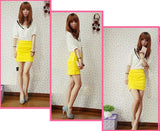 New Fashion Cute Candy Colors Knit Skirt Mini Skirt Seven Color S ~M
