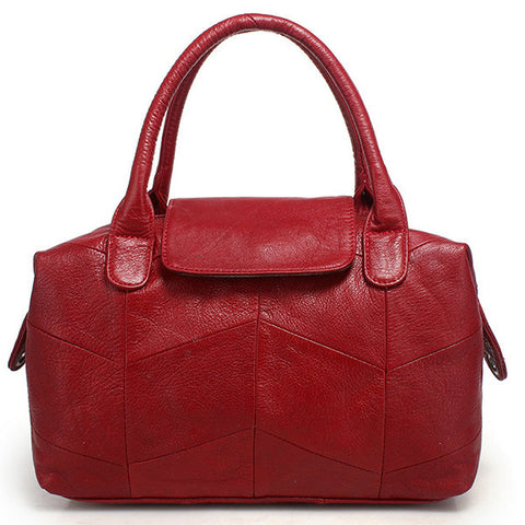 Women Cow Leather Tote Bag Crossbody Leather Bag