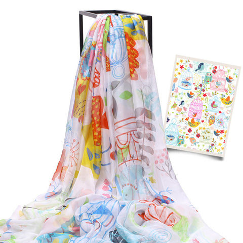 LYZA 200CM Women Ladies Oversize Long Shawl Multifunction Digital Printing Beach Towel Scarf