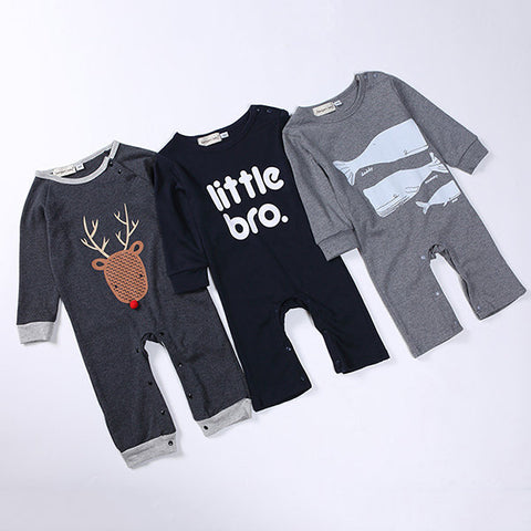Printed Infant Newborn Kids Baby Boy Girl Romper Outfits Jumpsuit
