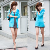Fashion Sweet Long Sleeve Applique Knitting Shirt Cardigan Coat