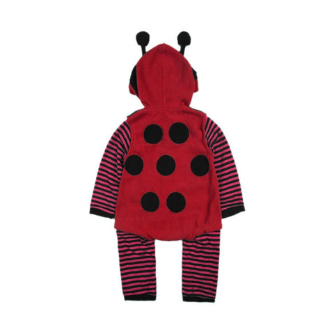 Cartoon Baby Fleece Ladybird Bee Cosplay Costume Fancy Dress Romper 3-24m