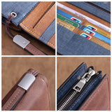 Genuine Leather Multi-Card Wallet Business Casual Large Capacity Long Wallet For Men