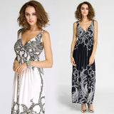 Stylish Lady Women's New Fashion Sleeveless V-neck Party Sexy Cocktail Gown Prom Long Dress