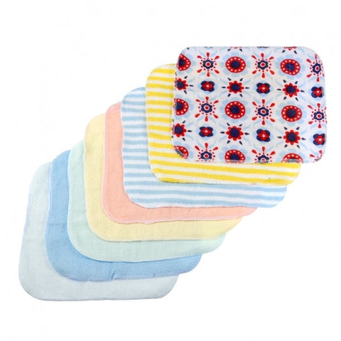 8PCS Baby Wash Handkerchief Multicolor Feeding Wipe Cloth Baby Towel