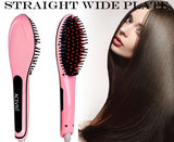 ACEVIVI Digital Electric Hair Straightener Comb Heating Detangling Hair Brush EU/US/UK/AU Plug