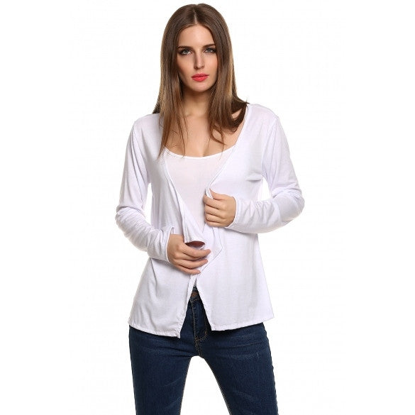 Fashion Women Casual Thin Coat Outwear Cardigan Loose Blouse
