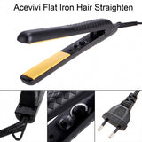 Acevivi Professional Hair Care Beauty Flat Iron Hair Straighten Styling Adjustable Temperature Black