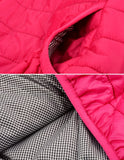 Stylish Ladies Women Casual Solid Padded Coat Down Jacket Hoodie Zipper Pocket Outerwear