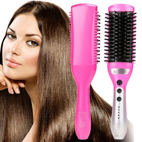 ACEVIVI 50W Electric Hair Straightener Comb Heating Detangling Hair Brush EU/ US/ UK Plug