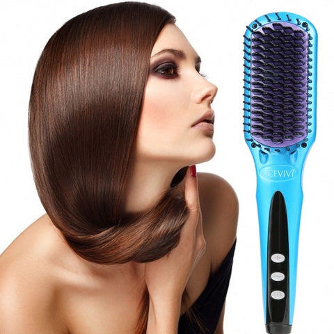 ACEVIVI Digital Electric Hair Straightener Comb Heating Detangling Hair Brush EU/ US/ UK Plug