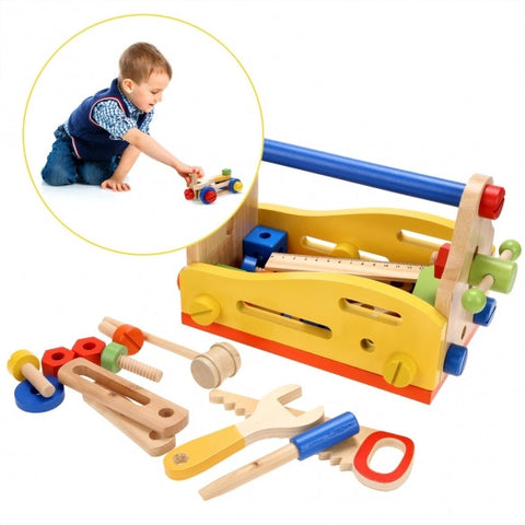 Baby 51 PCS Wooden Multi Functional Nut Combination Toys Building Block Set