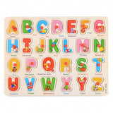 56pcs Wooden Toys Doug Deluxe Classic Peg Puzzle Bundle Of 3 Puzzles Alphabet/number/Graph