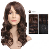 ACEVIVI Fashion Women Hair Wig Oblique Bangs Wavy Natural Wig W/ Wig Cap And Comb
