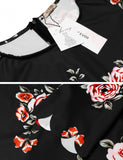 Women Casual Short Sleeve Slim Print O Neck Sexy Dress