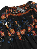 Women Sexy Long Sleeve Floral Print Off Shoulder Pullover Maxi Dress