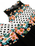 New Women Casual O-Neck Sleeveless Slim Chiffon Patchwork Tank A-Line Hem Dress With Lining